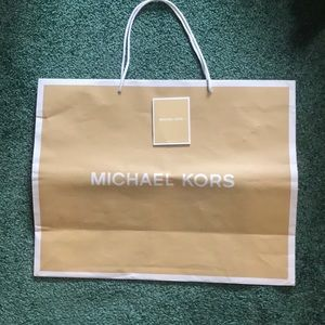 Michael Kors large store bag and care sheet